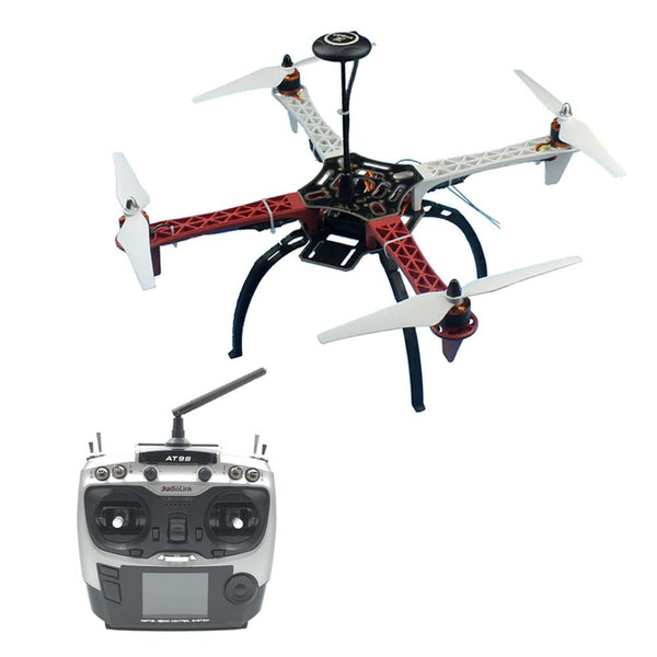 QWinOut HJ 450 F450 4-Aixs RFT Full Kit with APM 2.8 Flight Controller GPS Compass witn AT9S TX RX No Gimbal / Battery /Charger