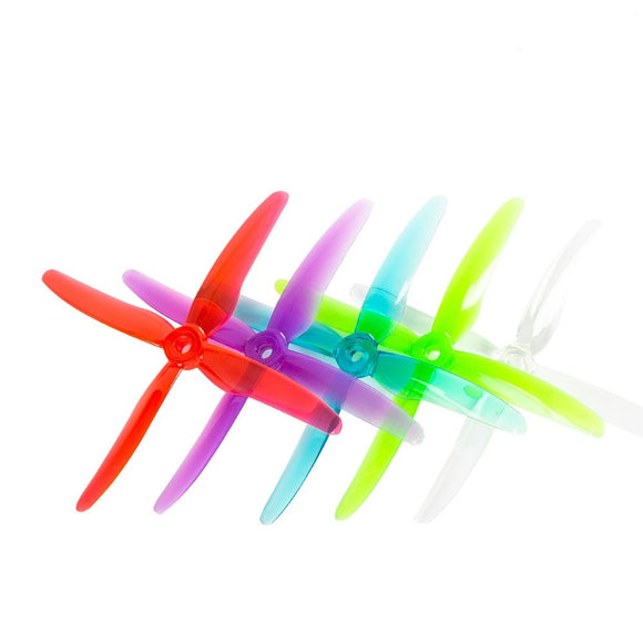 GEMFAN 51455 Hurricane X 4-blade Propeller FPV Prop 5mm Mounting Hole for RC FPV Racing Drone 12Pairs 24PCS