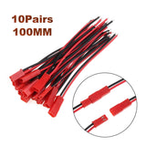 2/10Pairs 100/150mm 2 Pin Connector Plug JST Cable Male/Female Connectors For RC BEC Battery Helicopter DIY FPV Drone Quadcopter
