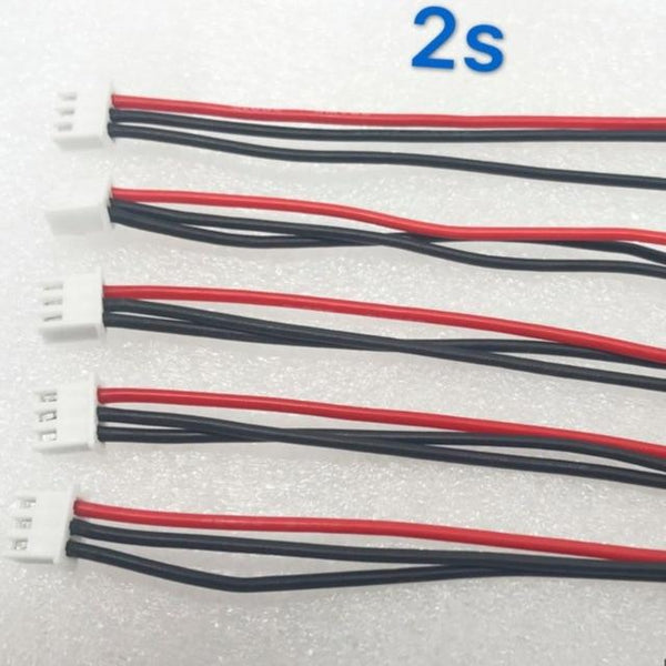 5Pcs/set 2S 3S 4S 5S 6S LiPo Battery Balance Charger Silicone Cable Wire JST-XH Connector Balancer Cable