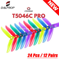 24 pcs / 12 pair DALPROP CYCLONE T5046C PRO 5046 3Blade propeller for T-Motor motor FPV Freestyle Drone Quadcopter version Prop