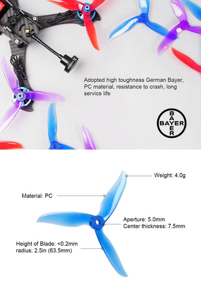 24 pcs/12 pair DALPROP CYCLONE T5040C PRO T5040C Pro V2 3-Blade propeller for T-Motor motor FPV Freestyle Drone Updated version