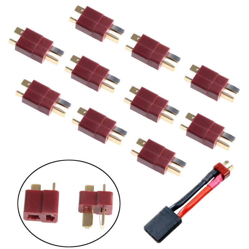 10 Pairs T Plug Male & Female Deans Connectors Style For RC LiPo Battery New