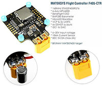 Matek MATEKSYS F405-CTR F405 AIO BFOSD STM32F405 Flight Controller Built-in PDB 5V/2A BEC SD Card Slot  BMP280 for F4 RC Drone