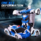 Transformation RC Car Sports Driving Car Shock Resistant Robot Mini Not 4WD RC Deformation Car Children Toys for Children GIFT