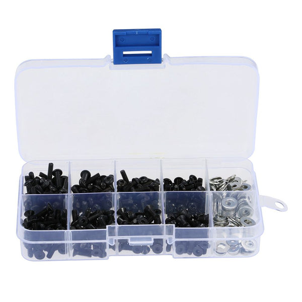 HOT SALE Screws Box Set for 1/10 HSP Traxxas Tamiya HPI Kyosho D90 SRC10 Remote Control RC Car Parts 180pcs