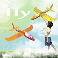 QWinOut Hand throw airplane EPP Foam Outdoor Launch Glider Plane Kids Toys 48 cm Interesting Launch Throwing Inertial Model Gift funny