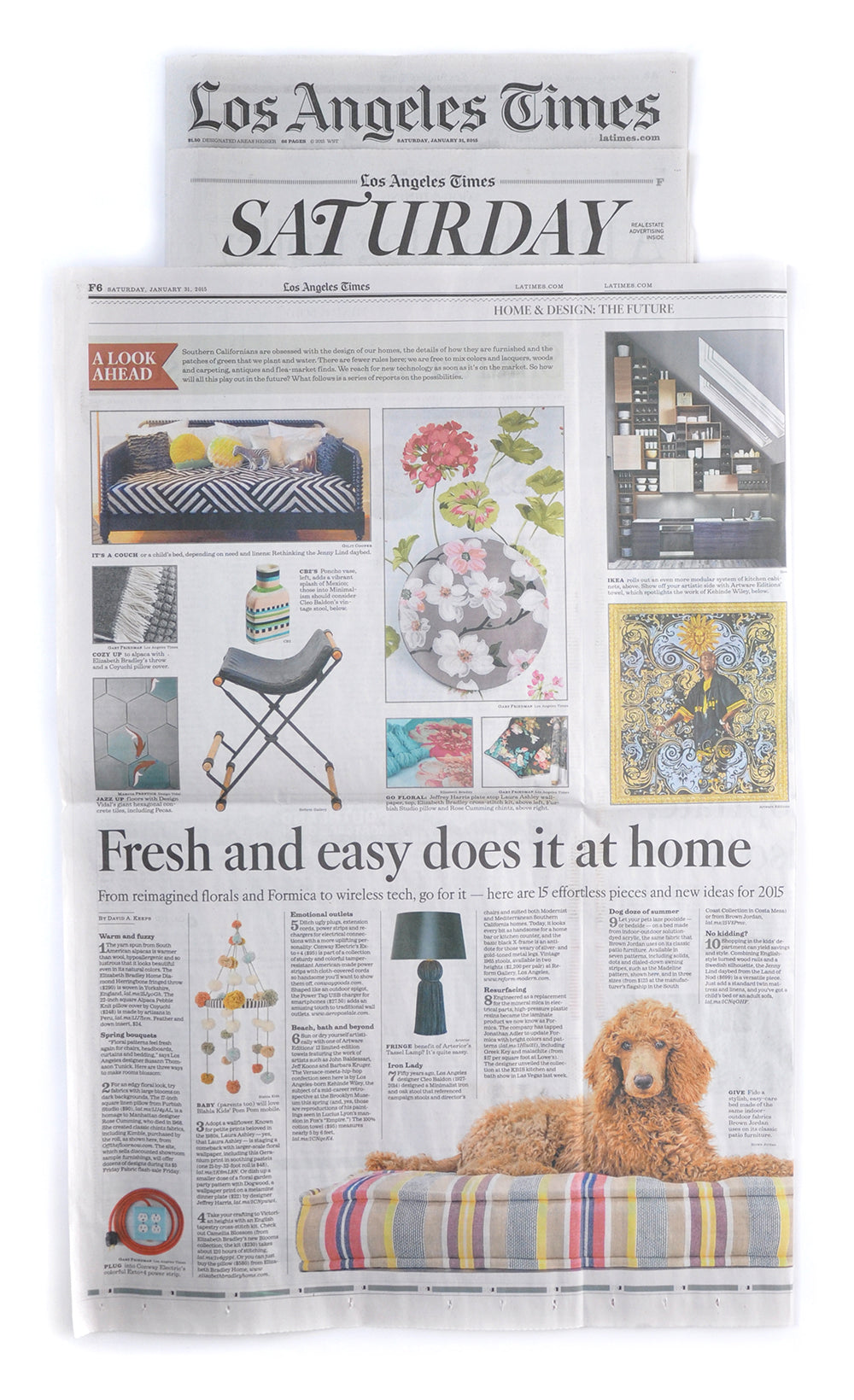 Elizabeth Bradley Design featured in The Los Angeles Times Newspaper