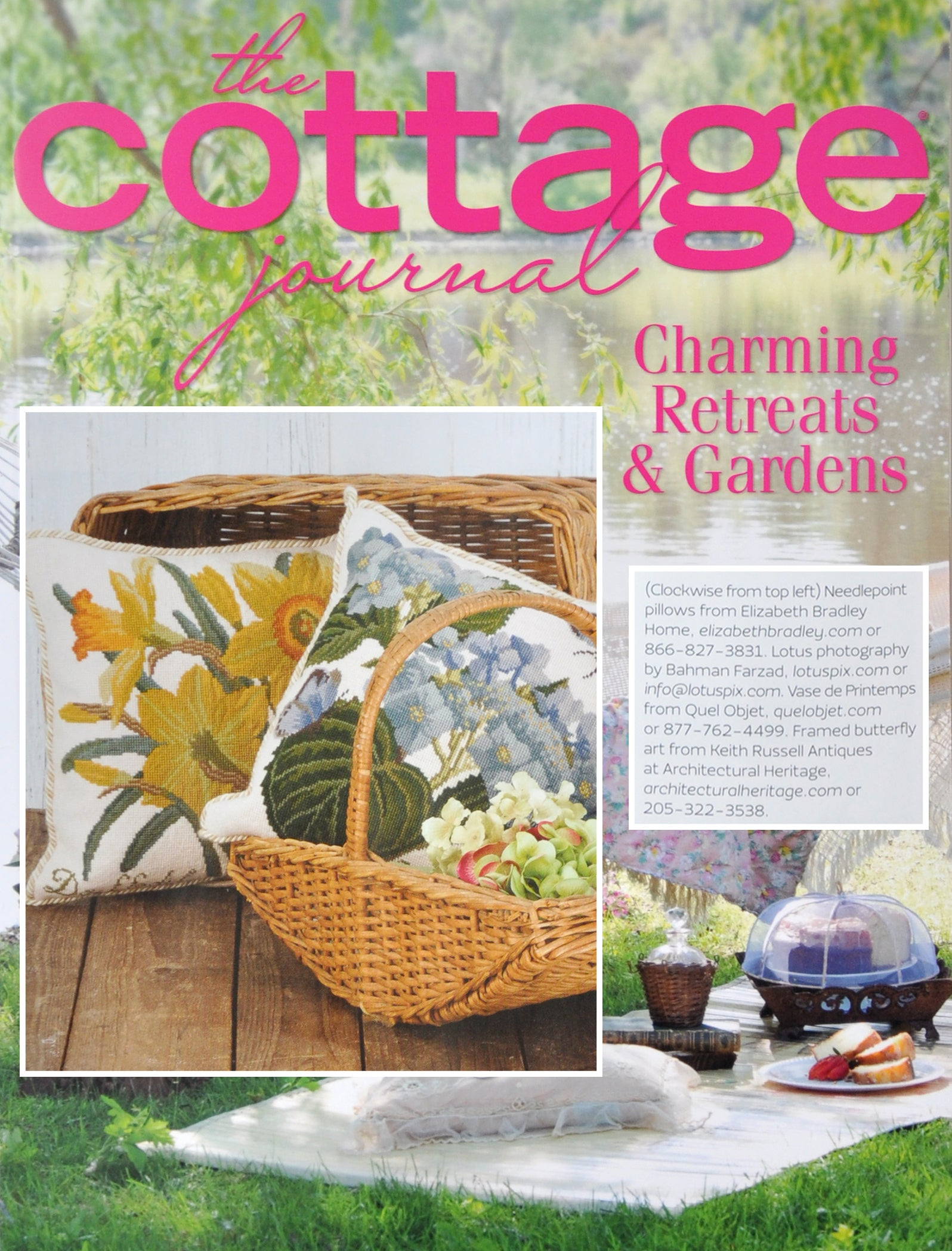Elizabeth Bradley Design as seen in The Cottage Journal Magazine