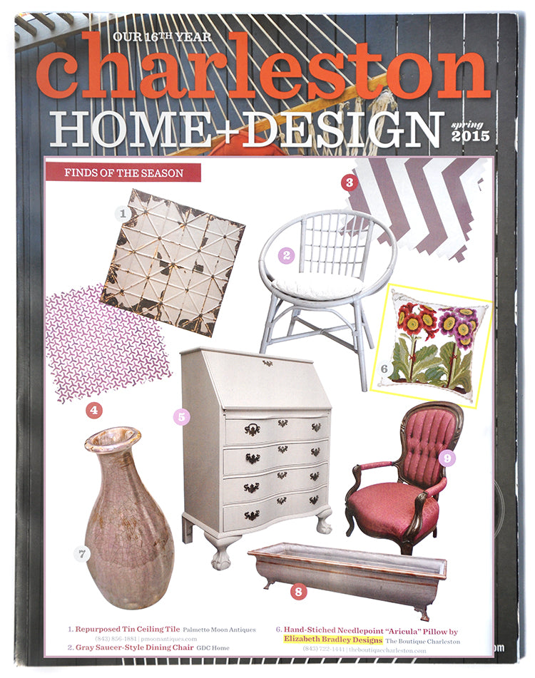Elizabeth Bradley Design featured in Charleston Home & Design Magazine