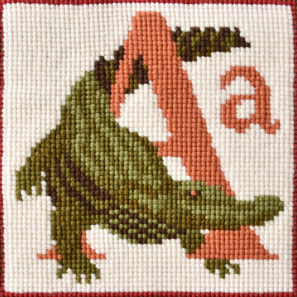 A - Alligator Needlepoint Kit Elizabeth Bradley Design