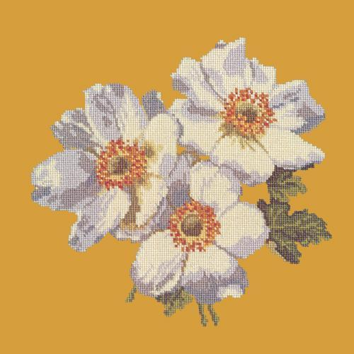 Anemones Needlepoint Kit Elizabeth Bradley Design Yellow