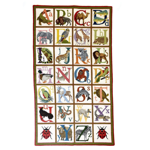 Animal Alphabet Rug Needlepoint Kit Elizabeth Bradley Design
