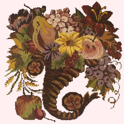 Autumn Cornucopia Needlepoint Kit Elizabeth Bradley Design Cream