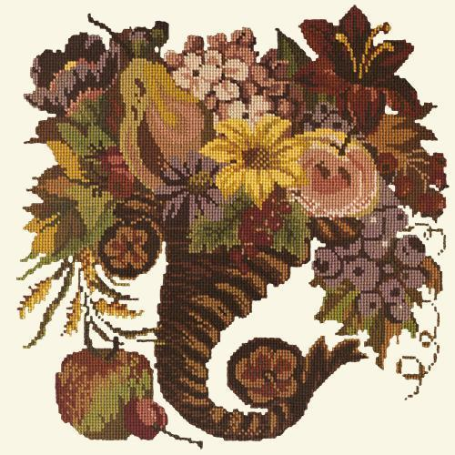 Autumn Cornucopia Needlepoint Kit Elizabeth Bradley Design Winter White