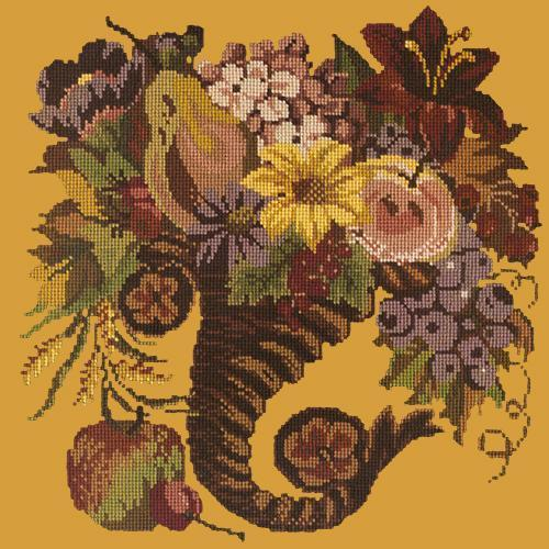 Autumn Cornucopia Needlepoint Kit Elizabeth Bradley Design Yellow