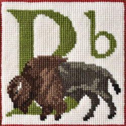 B-Buffalo Needlepoint Kit Elizabeth Bradley Design