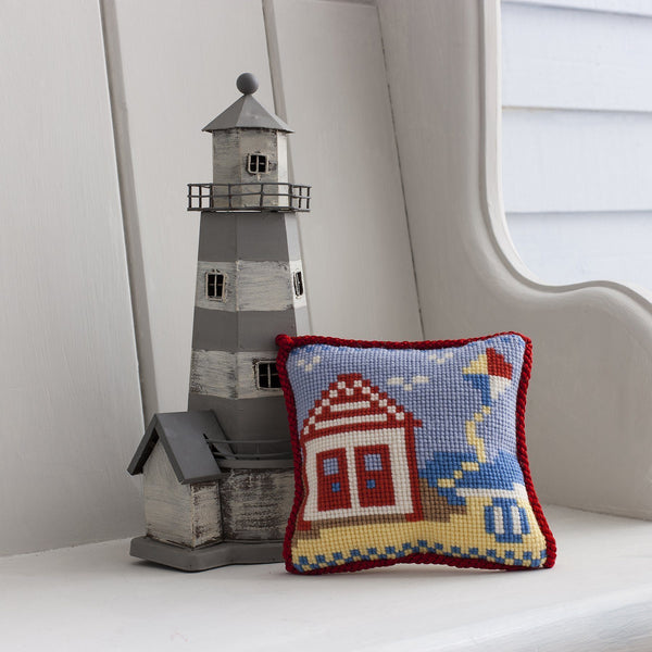 Beach Hut Needlepoint Kit Elizabeth Bradley Design