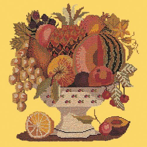 Bowl of Fruit Needlepoint Kit Elizabeth Bradley Design Sunflower Yellow