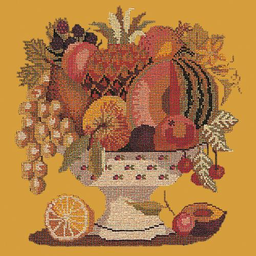 Bowl of Fruit Needlepoint Kit Elizabeth Bradley Design Yellow