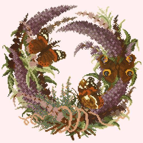 Buddleia Needlepoint Kit Elizabeth Bradley Design Cream