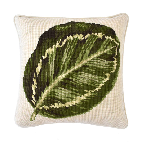 Calathea Leaf Needlepoint Kit Elizabeth Bradley Design