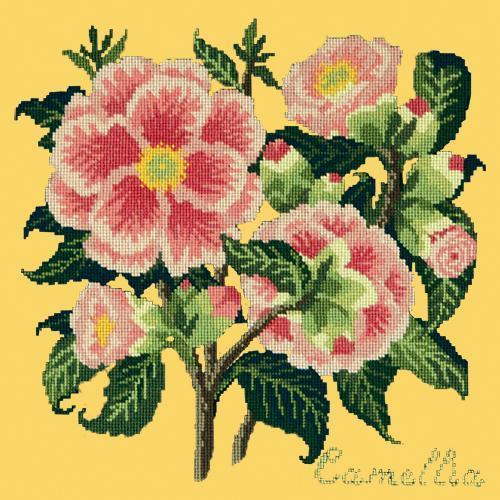 Camellia Needlepoint Kit Elizabeth Bradley Design Sunflower Yellow