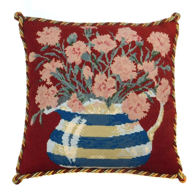 Carnation Jug Needlepoint Kit Elizabeth Bradley Design