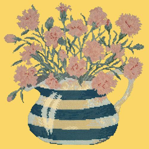 Carnation Jug Needlepoint Kit Elizabeth Bradley Design Sunflower Yellow