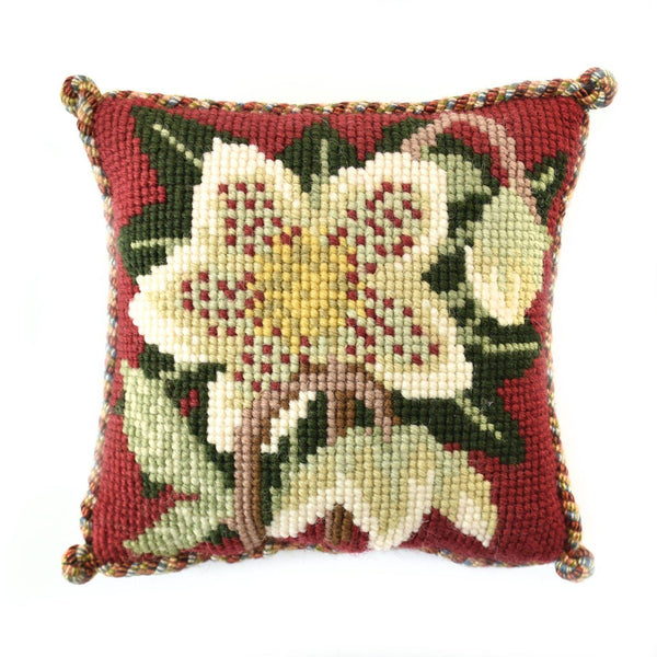 Christmas Rose Mini Kit Needlepoint Kit Elizabeth Bradley Design