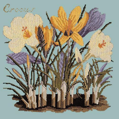 Crocus Needlepoint Kit Elizabeth Bradley Design Pale Blue
