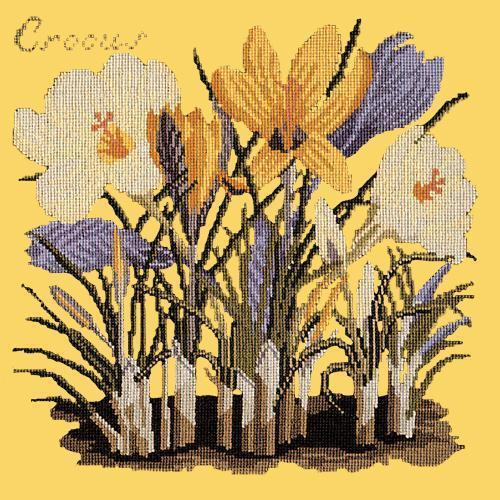 Crocus Needlepoint Kit Elizabeth Bradley Design Sunflower Yellow