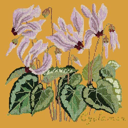 Cyclamen Needlepoint Kit Elizabeth Bradley Design Yellow