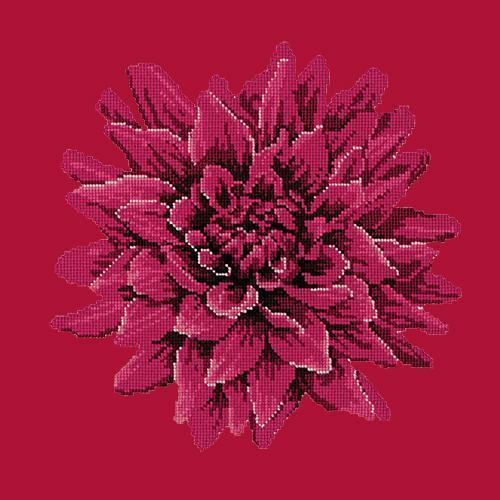 Dahlia Needlepoint Kit Elizabeth Bradley Design Bright Red