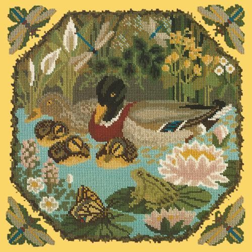 Duck Pond Needlepoint Kit Elizabeth Bradley Design Sunflower Yellow