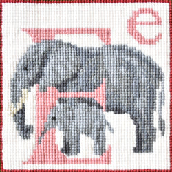 E-Elephant Needlepoint Kit Elizabeth Bradley Design