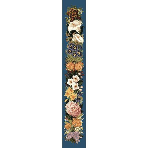 Easter Bell Pull Needlepoint Kit Elizabeth Bradley Design Dark Blue