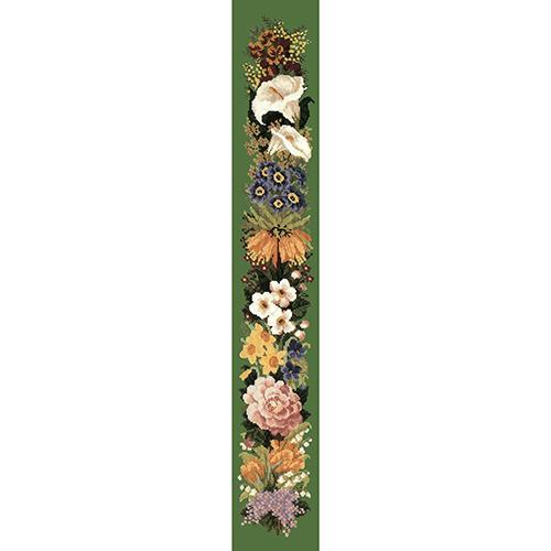 Easter Bell Pull Needlepoint Kit Elizabeth Bradley Design Dark Green