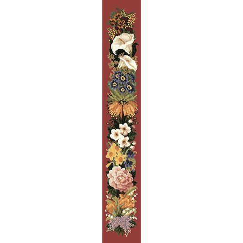 Easter Bell Pull Needlepoint Kit Elizabeth Bradley Design Dark Red