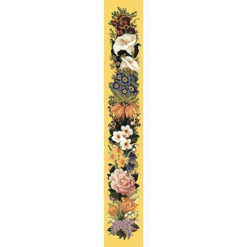Easter Bell Pull Needlepoint Kit Elizabeth Bradley Design Sunflower Yellow