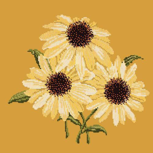 Echinaceas Needlepoint Kit Elizabeth Bradley Design Yellow