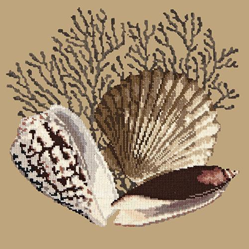 Fan Coral Needlepoint Kit Elizabeth Bradley Design Sand