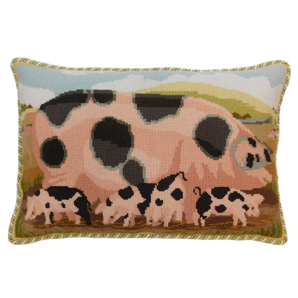 Gloucester Old Spot Sow With Her Piglets Needlepoint Kit Elizabeth Bradley Design