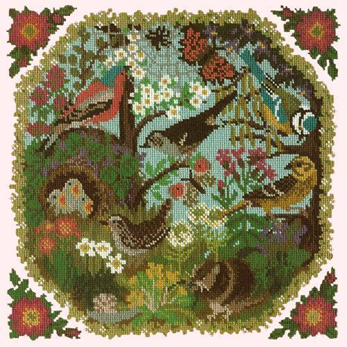 Hedgerow Needlepoint Kit Elizabeth Bradley Design Cream