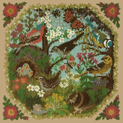 Hedgerow Needlepoint Kit Elizabeth Bradley Design Sand