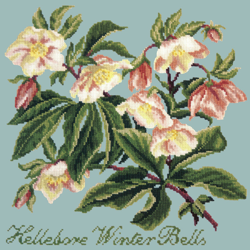 Hellebore Winter Bells Needlepoint Kit Elizabeth Bradley Design Pale Blue