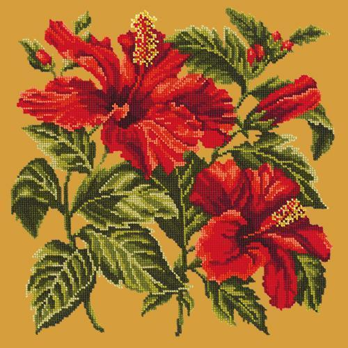 Hibiscus Needlepoint Kit Elizabeth Bradley Design Yellow