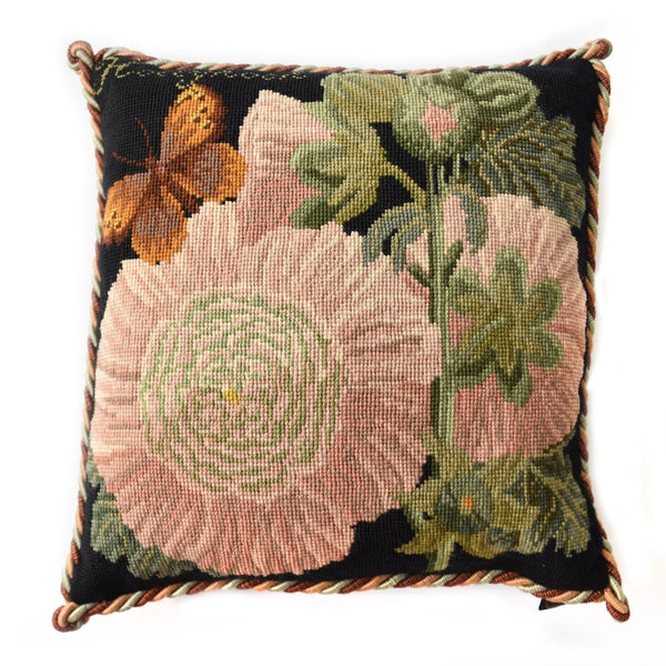 Hollyhock Needlepoint Kit Elizabeth Bradley Design
