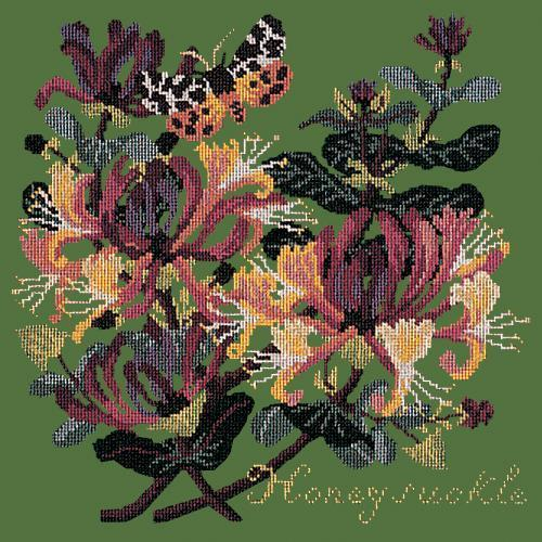 Honeysuckle Needlepoint Kit Elizabeth Bradley Design Dark Green