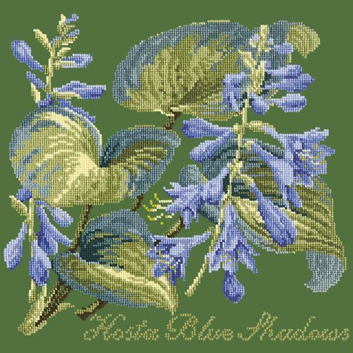 Hosta Blue Shadows Needlepoint Kit Elizabeth Bradley Design Dark Green
